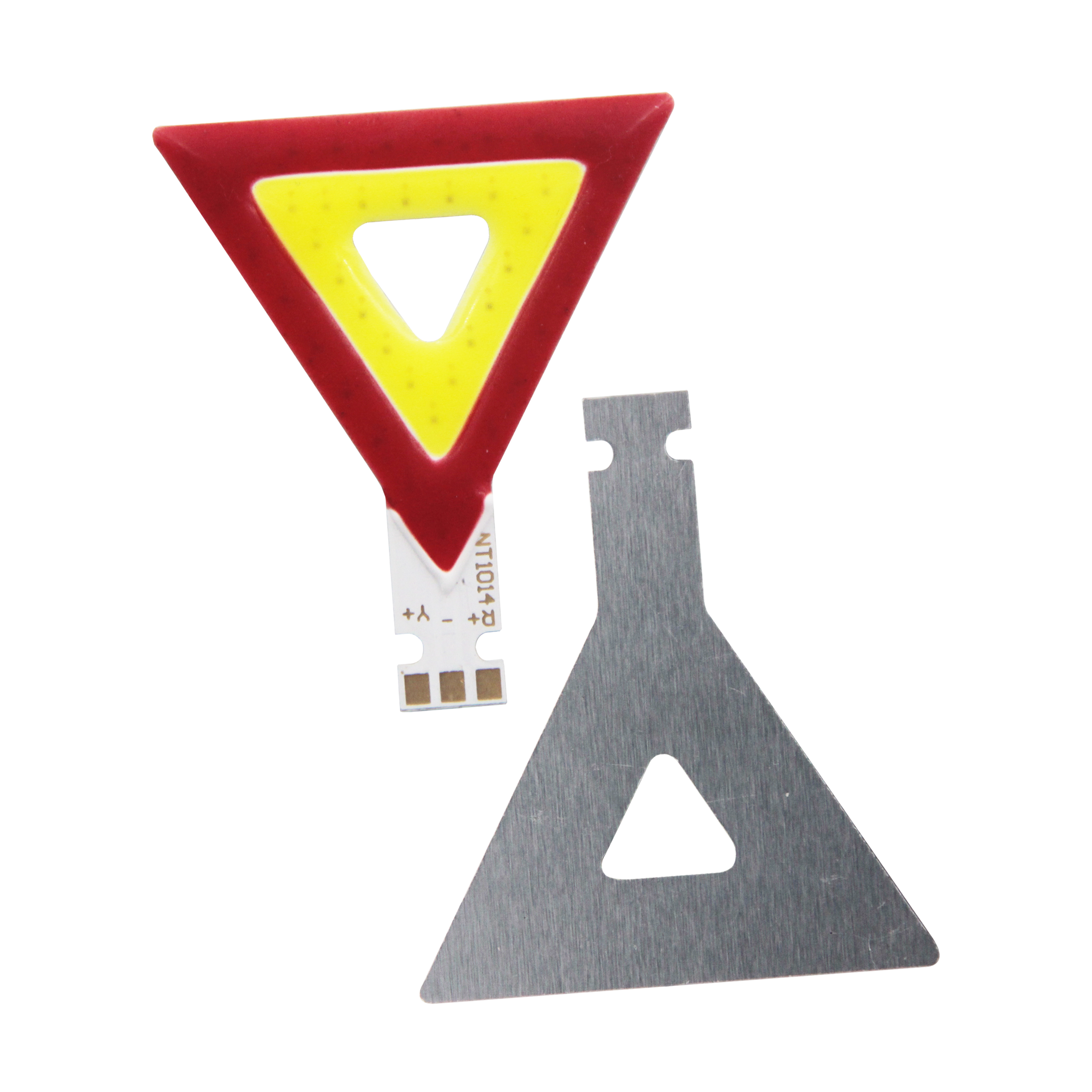 2W Triangle COB LED Panel Strip Light 44*36*36mm DC 3V 600mA Red Yellow