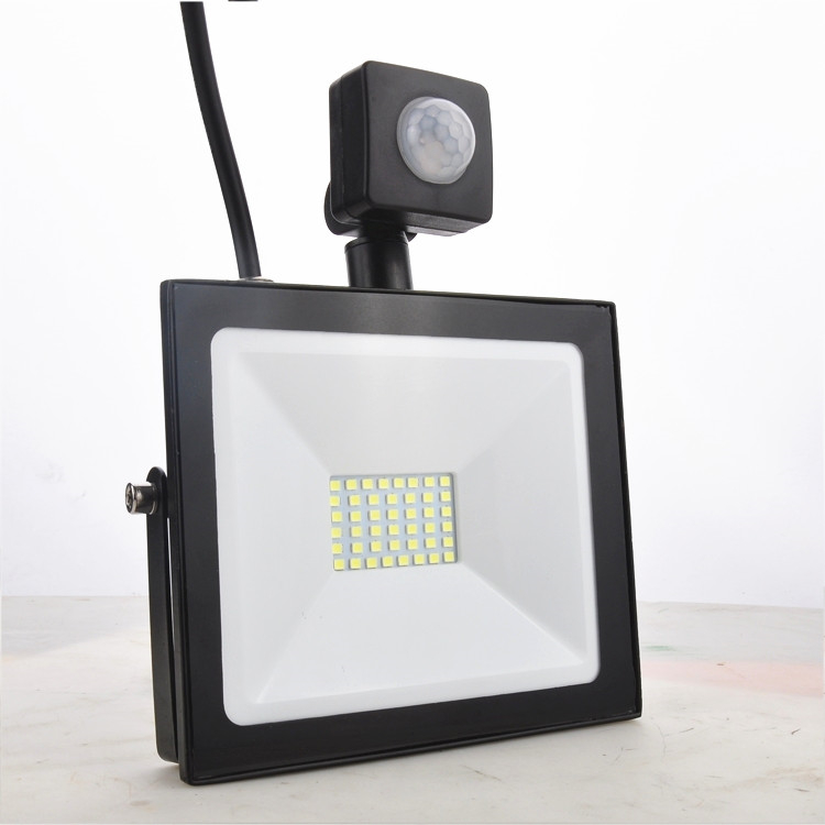 LED Floodlight With PIR Motion Sensor 10W 20W 30W 50W 100W LED Outdoor Garden Housing Flood Light 2