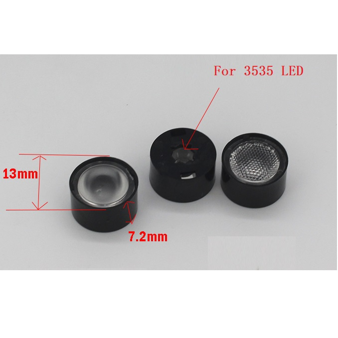 13mm 30/45/60 Degrees High Power Led Lens For CREE XPE CPE2 XPG XPG2 XTE 3535 LED