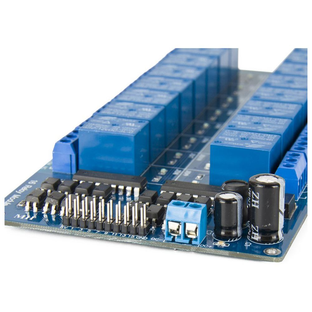 16 Channel Relay Module Board 5V 12V with Optocoupler Protection LM2576 Power