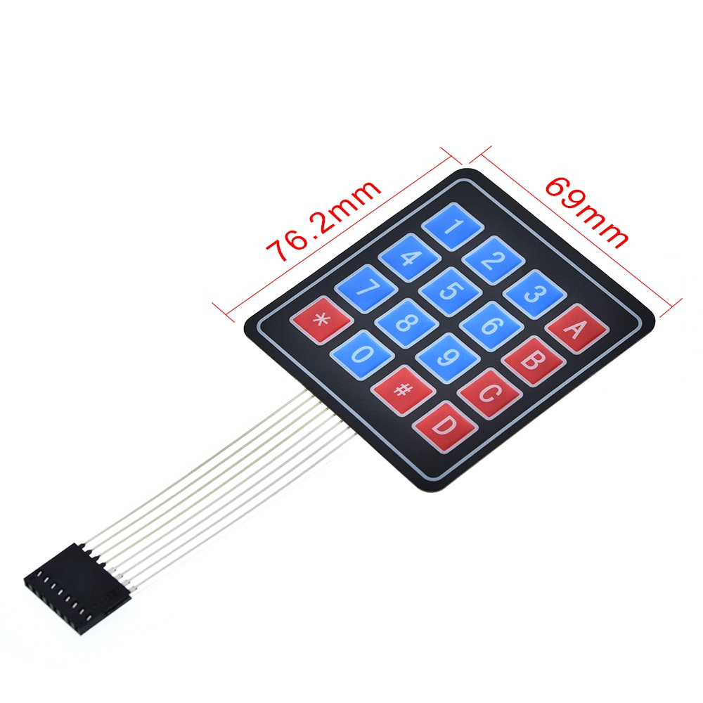 1*4 3*4 4*4 4*5 Matrix Array 16 Key Membrane Switch Keypad Keyboard for Arduino
