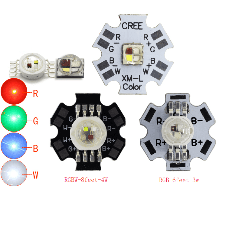4W 10W CREE XML High Power LED Emitter RGBW RGBWW 8 Pin With 20mm Aluminum PCB