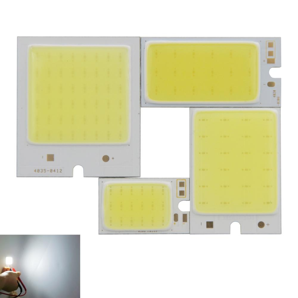 2-6W LED COB Light Bar Module Cold White DC 9V 40*35 40*20 36*26 26*16mm