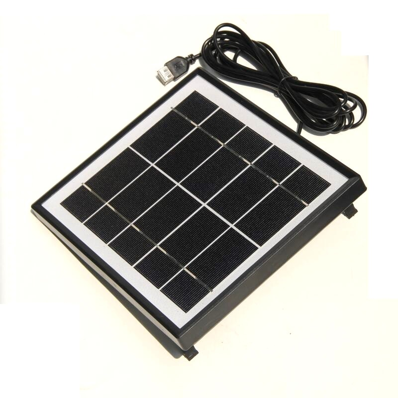 5.5W 5V Monocrystalline Solar Panel with 3M Wire Battery Charger