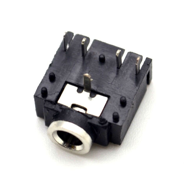 3F07 Audio EarPhone Socket 5Pin 3.5 Dual Track Heat Resisting