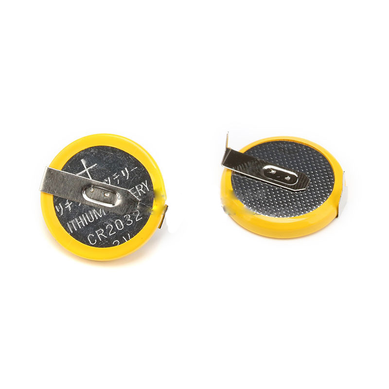 2032 3V 200mA Button Battery with Solder Foot