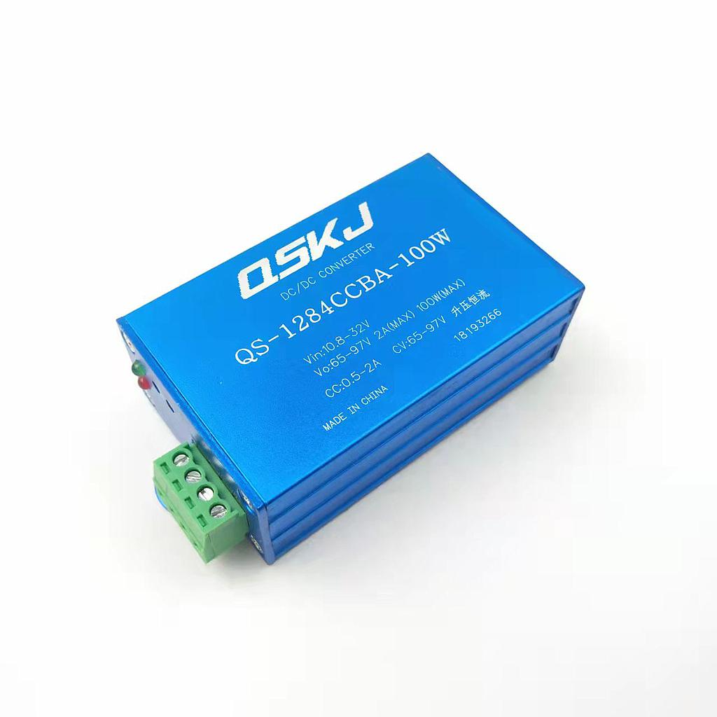 DC-DC Boost Converter 10.8-35V to 65-97V Step Up Power Supply QS-1284CCBA-100W